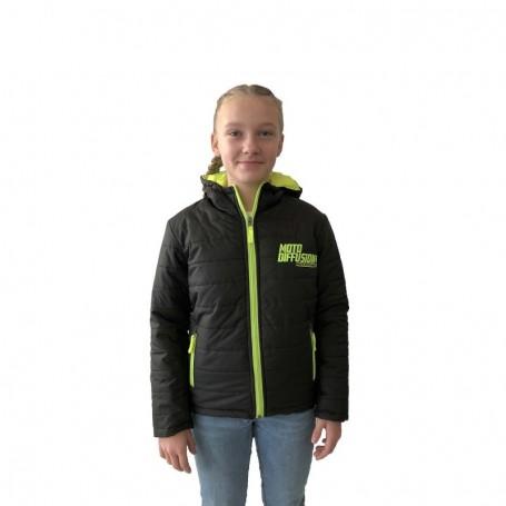 Doudoune Officielle Moto Diffusion Black Yellow Fluo Enfant