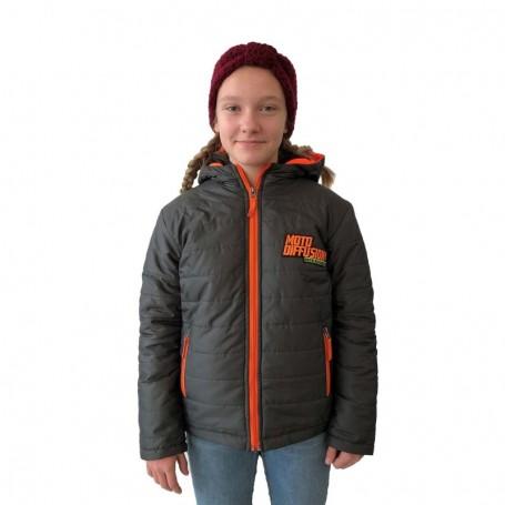 Doudoune Officielle Moto Diffusion Grey Orange Fluo Enfant