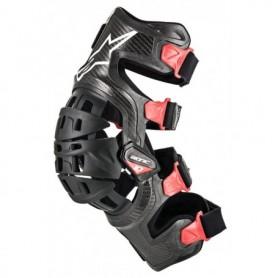 Genouillères ALPINESTARS Bionic 10 Carbone Black Red Gauche