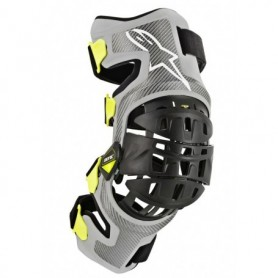 Genouillères ALPINESTARS Bionic 7 Silver Yellow Fluo