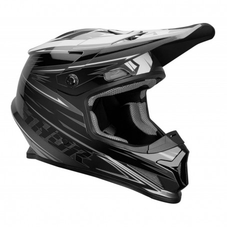 Casque cross THOR Sector Warp Charcoal Black