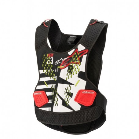 Pare Pierre ALPINESTARS Sequence Chest Protector Black White Red