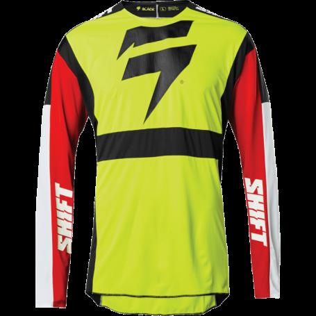 maillot-cross-shift-3-lack-label-race-jaune-fluo-rouge