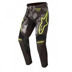 Pantalon Cross ALPINESTARS Youth Racer Tactical Black Gray Camo Yellow Fluo 20