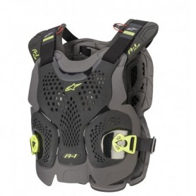 Pare Pierre ALPINESTARS A-1 Plus Chest Protector Black Anthracite Yellow Fluo