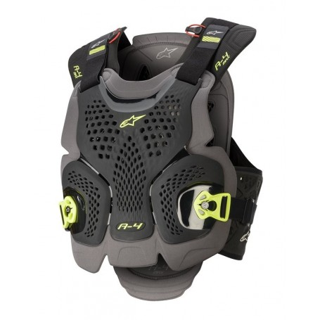 Pare Pierre ALPINESTARS A-4 Max Chest Protector Black Anthracite Yellow Fluo