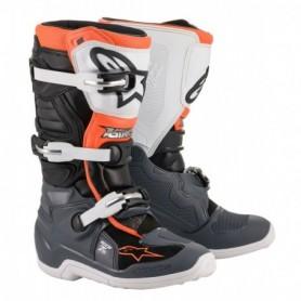 Bottes Moto Cross ALPINESTARS Tech 7S Black Gray White Orange Fluo