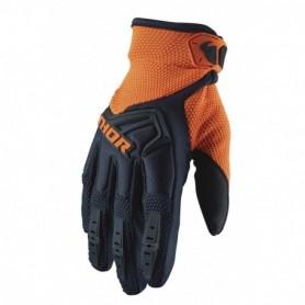Gants Moto Cross THOR Youth Spectrum Midnight Orange