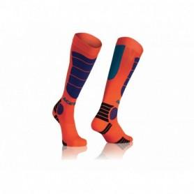 Chaussettes De Cross ACERBIS Mx Impact Fluo Orange Blue