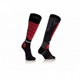 Chaussettes De Cross ACERBIS Mx Impact Black Red