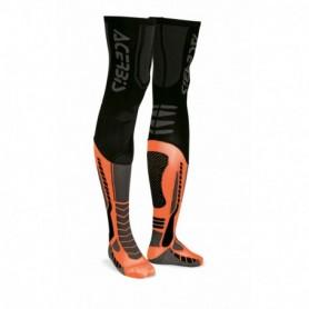 Jambières De Cross ACERBIS X-Leg Pro Black Fluo Orange