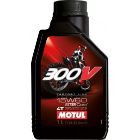 Huile MOTUL 300V 4T Factory Line Off Road 15w60 100 % Synthèse en 4 litres