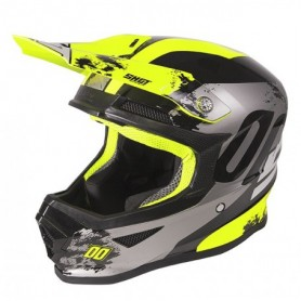 Casque cross SHOT Furious Kid Shadow Neon Yellow Glossy