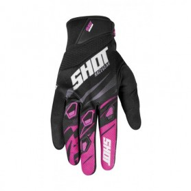 Gants Moto Cross SHOT Devo Kid Ventury Neon Pink Fushia 20