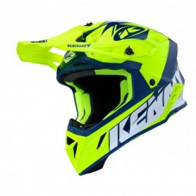 Casque cross KENNY Trophy Graphic Neon Yellow