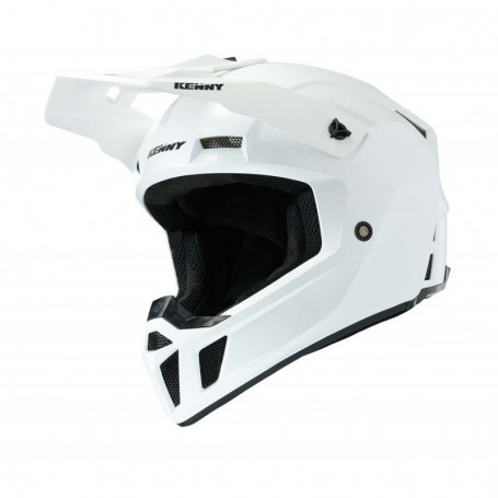 Casque cross KENNY Performance Solid White Pearl