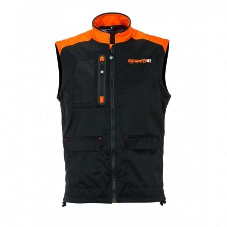 Bodywarmer + KENNY Black Neon Orange