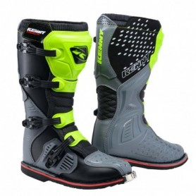 Bottes Moto Cross KENNY Track Grey Neon Yellow