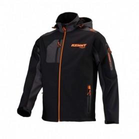 Veste KENNY Softshell Racing Black Neon Orange