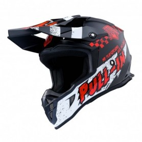 Casque cross PULL IN Trash Black Red 20