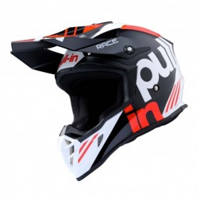 Casque cross PULL IN Race Black Red 20