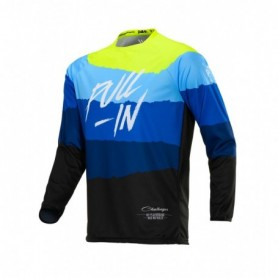 Maillot Cross PULL IN Challenger Kid Original Tone Blue Neon Yellow 20