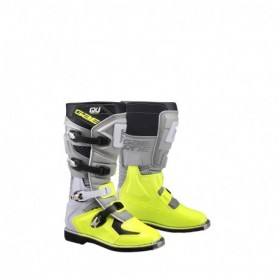 Bottes Moto Cross GAERNE Junior GX-J Grey Yellow Fluo