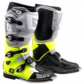 Bottes Moto Cross GAERNE SG12 Grey Yellow Fluo Black
