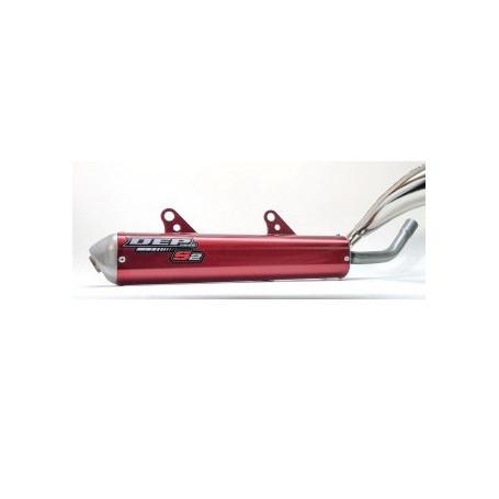 Silencieux-Aluminium-DEP-S2-Beta-Anodisé-Rouge