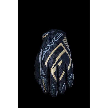 gants-moto-cross-five-mxf-prorider-s-noir-dore