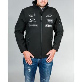 Veste-Officielle-Moto-Diffusion-Soft-Shell-Noir-Gris