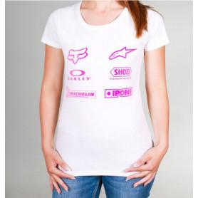 t-shirt-officiel-moto-diffusion-femme-blanc-rose