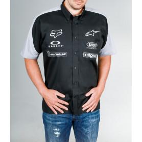 chemisette-officielle-moto-diffusion-noir-gris