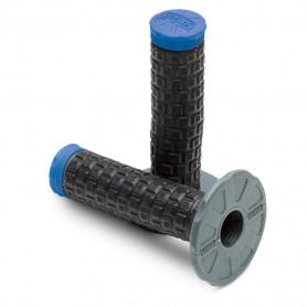 Jeu-de-poignées-PRO-TAPER-Pillow-Top-Lite-Noir/Bleu