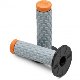 Jeu-de-poignées-PRO-TAPER-Pillow-Top-Lite-Gris/Orange