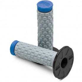 Jeu-de-poignées-PRO-TAPER-Pillow-Top-Lite-Gris/Bleu