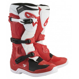 Bottes-Moto-Cross-ALPINESTARS-Tech-3-Red-White