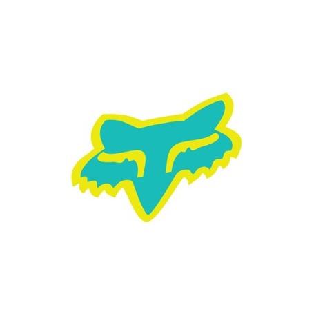 Stickers FOX Head 4.5 cm Miami Green