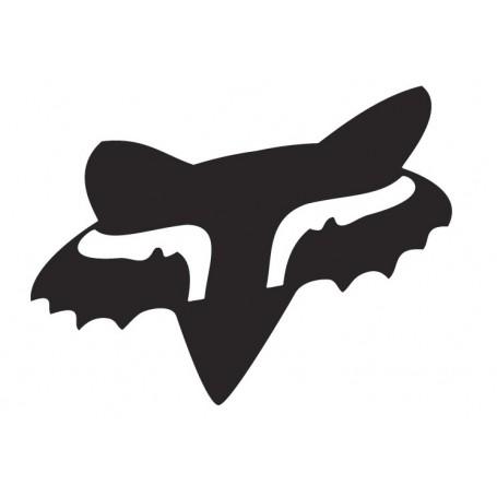 Stickers FOX Head 10 cm Black