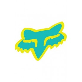 Stickers FOX Head 10 cm Miami Green