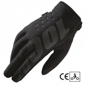 Gants-Moto-Cross-100%-The-Brisker-Black-Grey