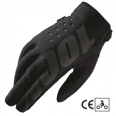 Gants-Moto-Cross-100%-The-Brisker-Black-Grey