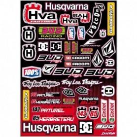 Planche de Stickers BUD RACING Team HVA