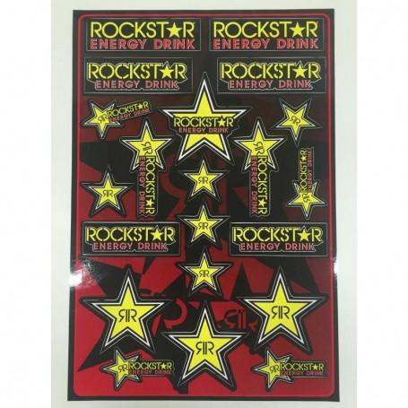 Planche de Stickers ROCKSTAR ENERGY Logo's