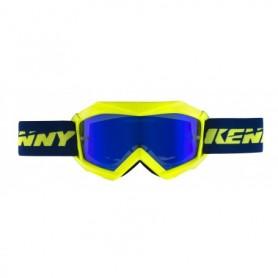 Masque Cross KENNY Track + Jaune Fluo Bleu Enfant
