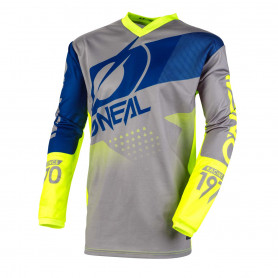 maillot-cross-oneal-element-factor-jaune-fluo-gris-bleu-20