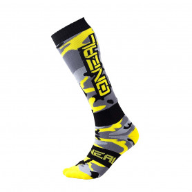 Chaussettes-de-Cross-ONEAL-Pro-MX-Hunter-Black-Gray-Neon-Yellow-Taille-Unique