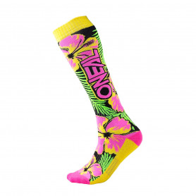 Chaussettes-de-Cross-ONEAL-Pro-MX-Island-Pink-Green-Yellow-Taille-Unique