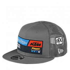 casquette-troy-lee-designs-ktm-team-snapback-gray
