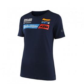 t-shirt-troy-lee-designs-ktm-team-navy-femme